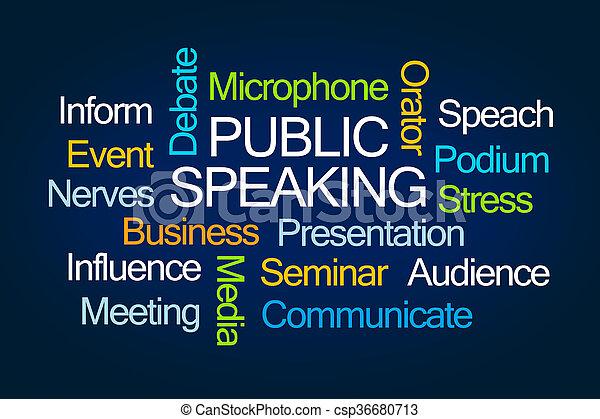 mot, parler, public, nuage - csp36680713