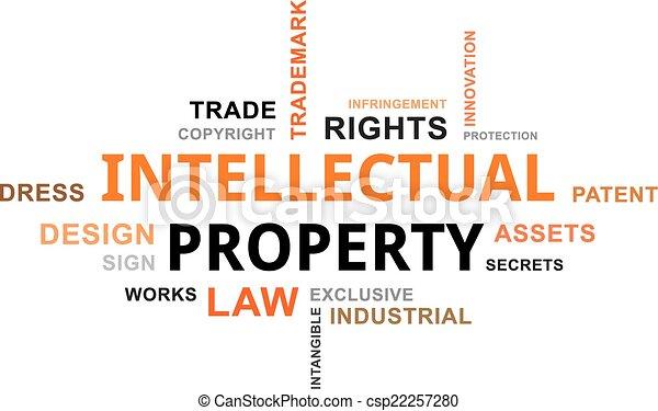 mot, propriété, -, nuage, intellectuel - csp22257280