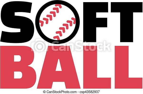 mot, softball - csp43582937