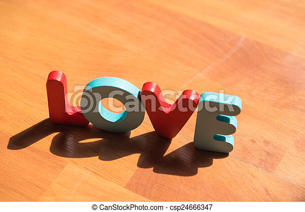 mot, style, 3, bois, poser, amour, plancher, ombre, laminate, ombre - csp24666347