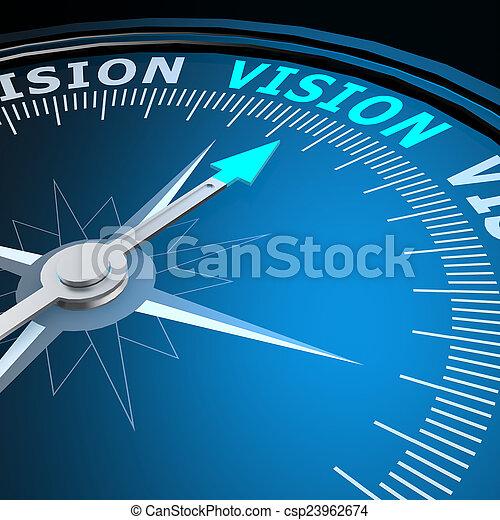 mot, vision, compas - csp23962674