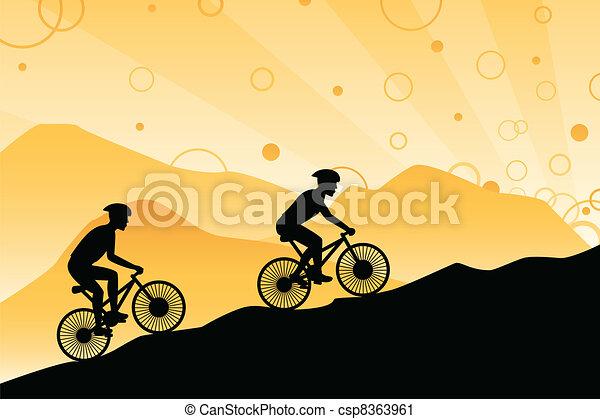 motards, montagne - csp8363961