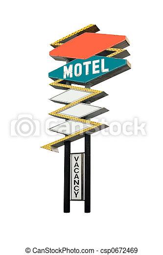 Motel Sign - csp0672469