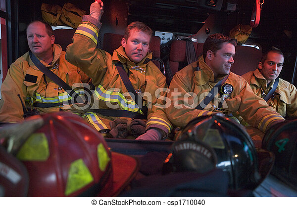 moteur, brûler, pompiers, engrenage, quatre - csp1710040