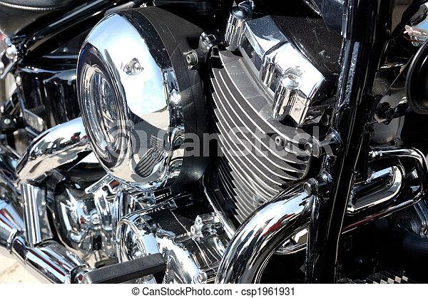 moteur, chrome-plaqué, motocyclette - csp1961931