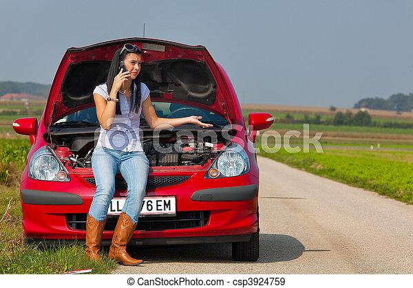 moteur femme elle voiture casse chec bas a moteur photographies de stock. Black Bedroom Furniture Sets. Home Design Ideas