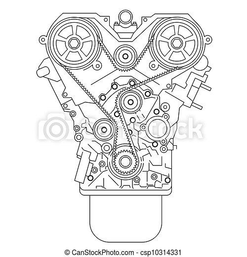 moteur, interne, combustion - csp10314331