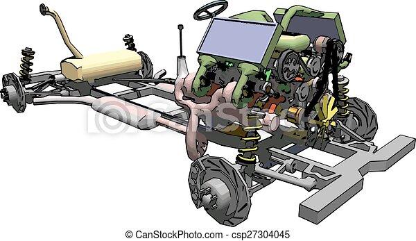 moteur transmission voiture projection ch ssis plan vecteur eps rechercher des clip. Black Bedroom Furniture Sets. Home Design Ideas