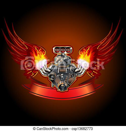 moteur, turbo, ailes - csp13682773
