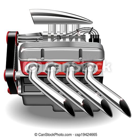 moteur, vecteur - csp19424665