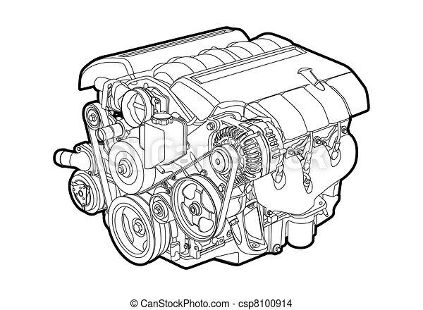 moteur, vecteur - csp8100914