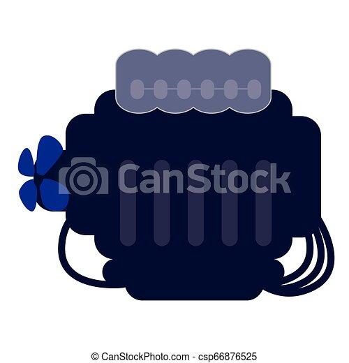 moteur, voiture, atelier, mécanicien - csp66876525