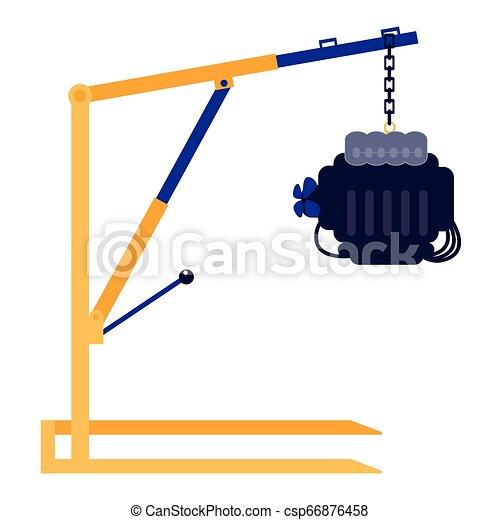 moteur, voiture, grue, atelier, mécanicien - csp66876458