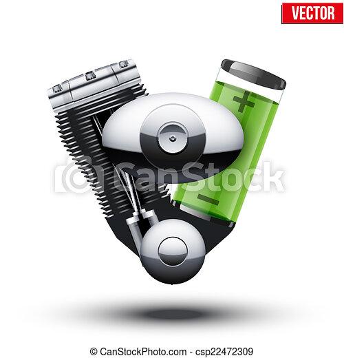 moteur voiture hybride isol arri re plan blanc clipart vectoriel rechercher. Black Bedroom Furniture Sets. Home Design Ideas