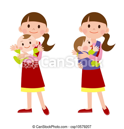 mother and baby babysitter rh canstockphoto com babysitting pictures clip art babysitter clip art free
