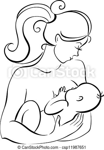 Mother and baby - csp11987651