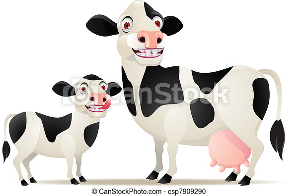 mother and baby cow rh canstockphoto com Black Cow Clip Art baby crow clip art