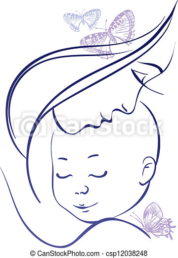 Mother and baby - csp12038248