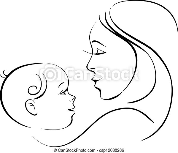 Mother and baby - csp12038286