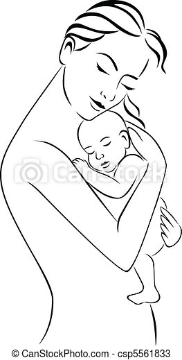 mother and baby - csp5561833