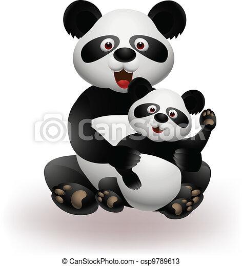 Mother and baby panda - csp9789613