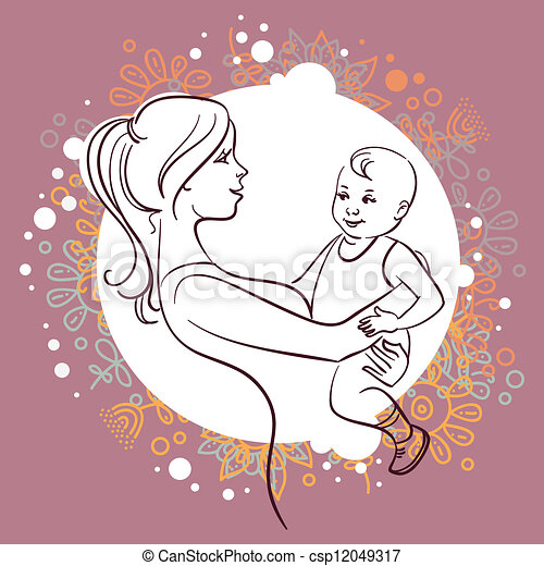 Mother and baby - csp12049317