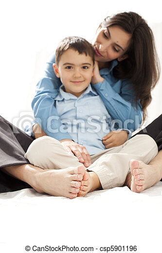 mother and child toes - csp5901196