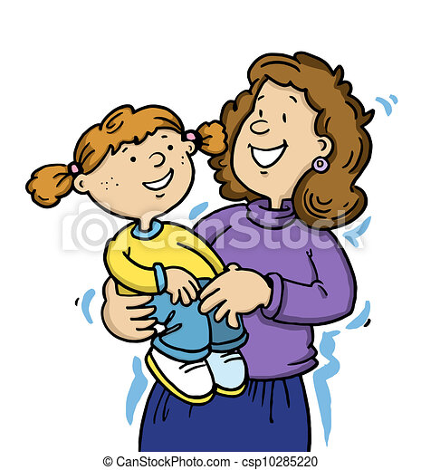 mother and daughter having a cuddle clip art search illustration rh canstockphoto com mother clipart picture mother clipart image