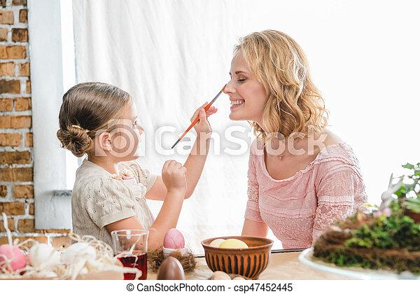 Mother and daughter having fun - csp47452445