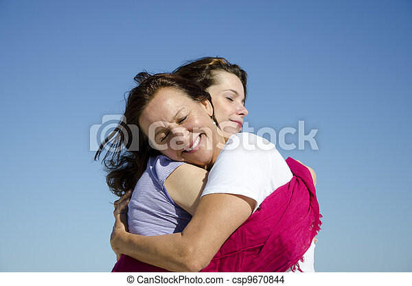 Mother and daughter showing love and affection - csp9670844