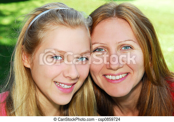 Mother and daughter - csp0859724