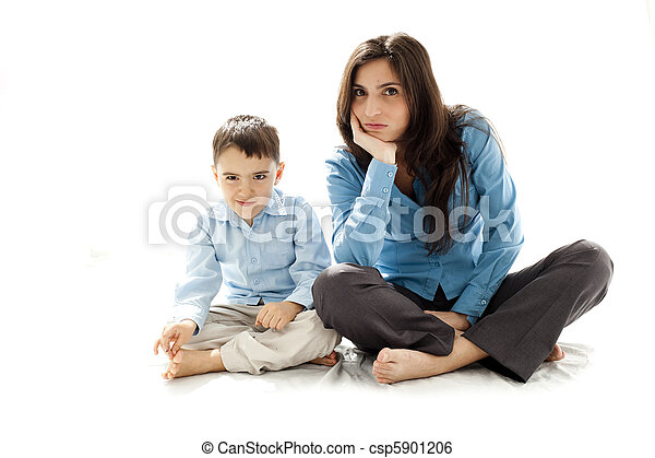 mother and her boy - csp5901206