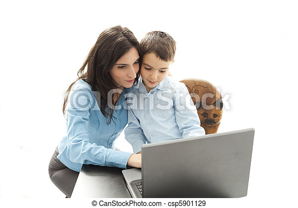 mother and son activities - csp5901129