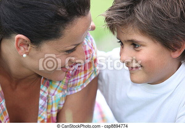 Mother and son at park - csp8894774
