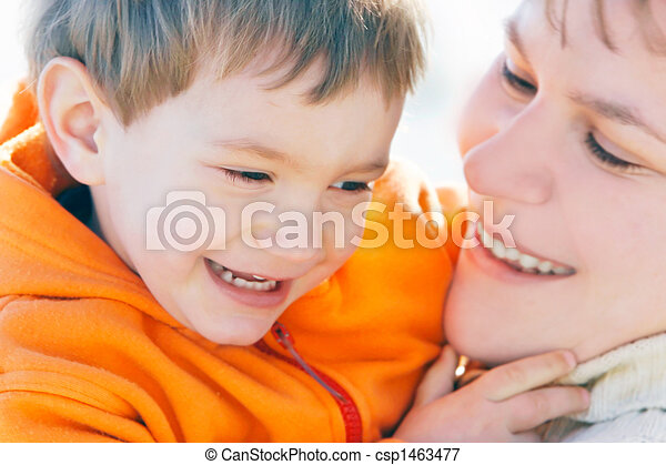 mother and son portrait - csp1463477
