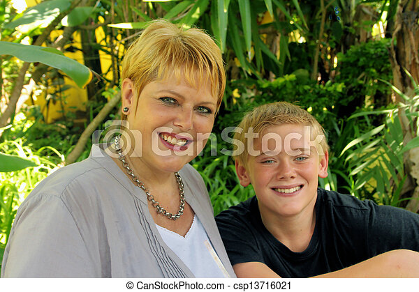 Mother and Son Portrait - csp13716021