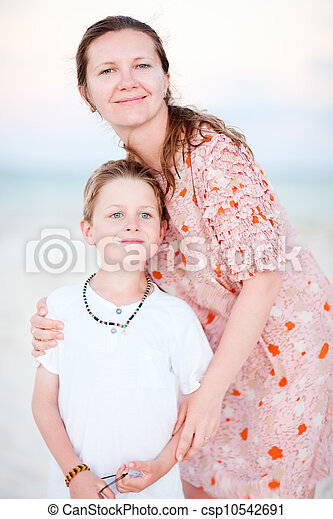 Mother and son portrait - csp10542691