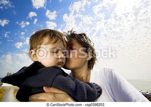 mother and son portrait - csp0398253
