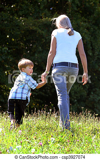 Mother and son - csp3927074