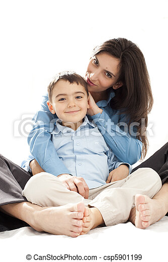 mother and son - csp5901199
