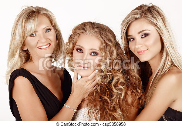 mother and two daughters. - csp5358958