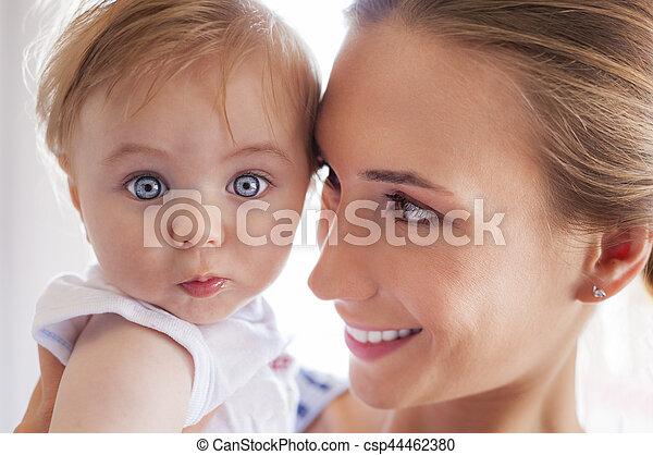 Mother baby eyes - csp44462380