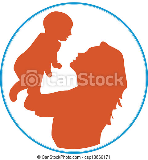 mother baby an illustrator of mother and baby vectors rh canstockphoto com mother and baby clipart png mother and baby clipart images