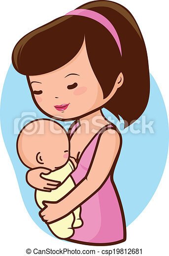 mother breastfeeding baby a mother nursing her newborn vector rh canstockphoto com mother clipart pictures mother earth clipart images