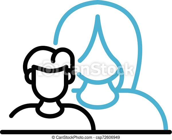 Mother care child icon, outline style - csp72606949