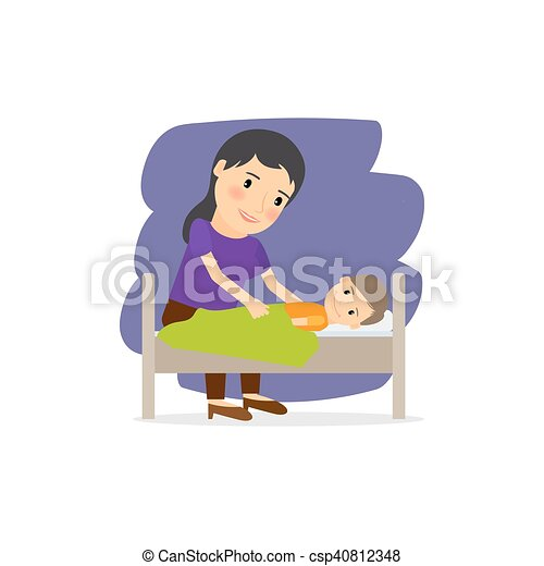 Mother care for the child - csp40812348