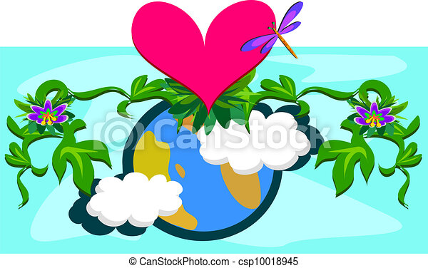Mother earth with plants and a huge mother earth overflows eps vector search clip art - Mother earth clipart ...