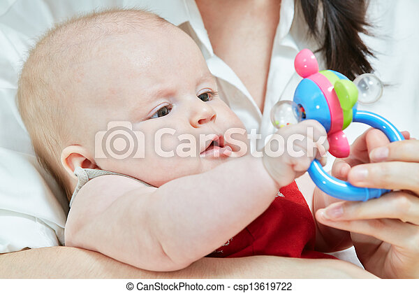 Mother game with her child - csp13619722