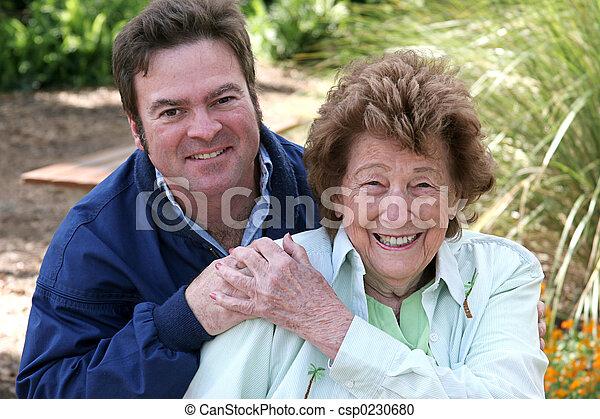 Mother & Grown Son - csp0230680