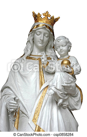 mother mary baby jesus isolated image of mother mary jesus